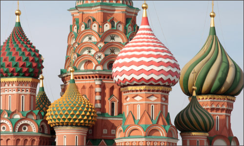 The domes of St basil's cathedral