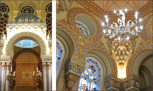 The interior of Moscow Choral synagogue