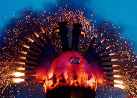 Fire-bird created by Nikolay Polissky specially for Maslenitsa celebration in Gorky Park