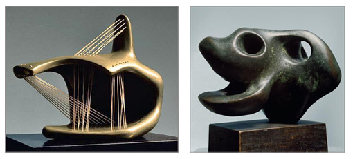Henry Moore. A figure with strings.                                                           Animal head