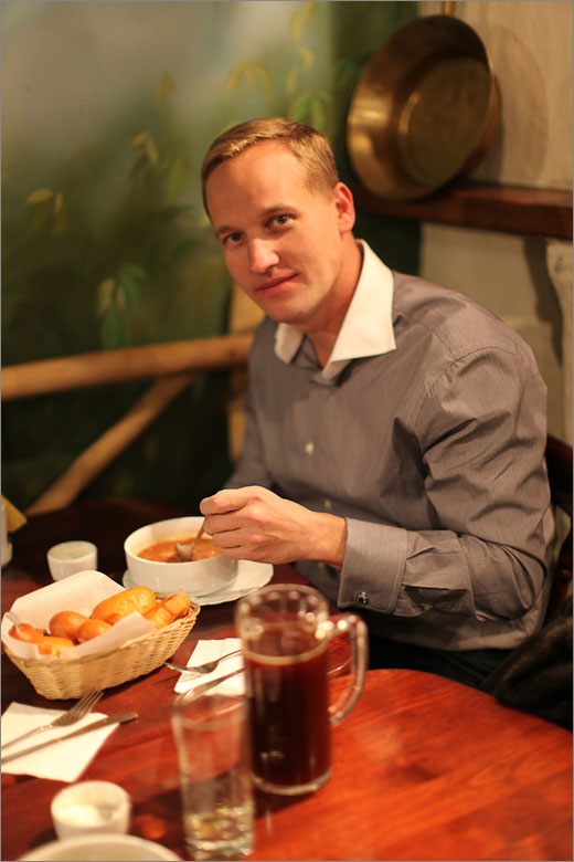 Russian lunch - Rob Dillard/  photo by Julia Trunina