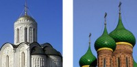 Shape and color of Russian domes.
