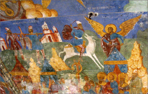Yaroslavl. The murals in the church of Elijah the Prophet