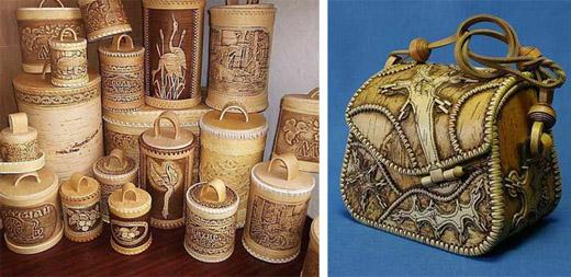 Birch bark crafts