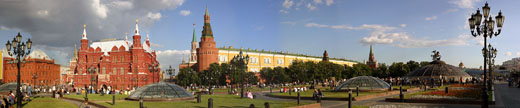 Manezh square, History museum, the Kremlin