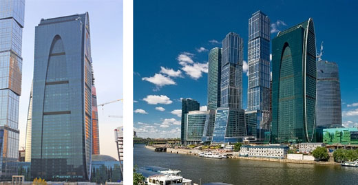 Empire tower. Moscow-city complex
