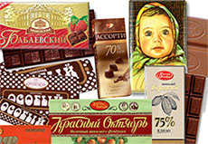 Russian chocolate and sweets