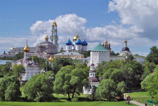 The Trinity Monastery of St. Sergius. You will see in on the third day of your tour