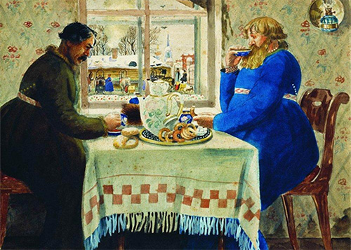Coachman in a restaurant, Boris Kustodiev