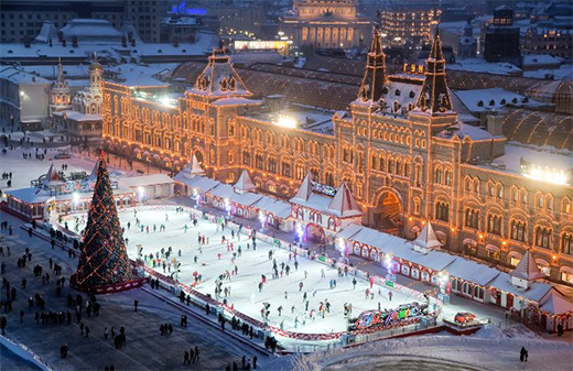 GUM Skating-rink  on red Square