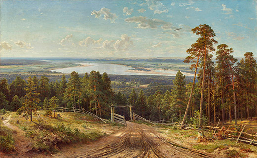 'The Kama River near Elabuga' by Shishkin