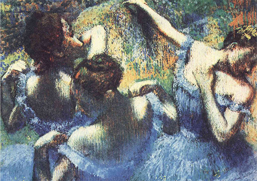 Dega. Blue Dancers