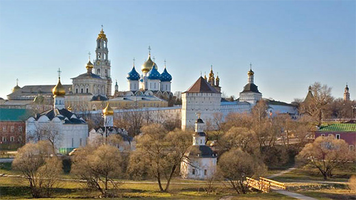 Panoramic view of the Holy Trinity St. Sergius Monastary