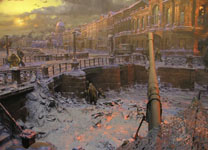 The seige of Leningrad. Diorama