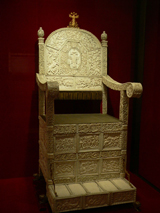 The ivory-palted throne of Ivan the Terrible