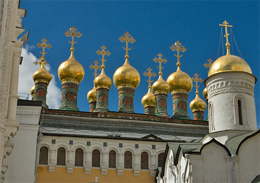 The Upper Savior Cathedral in Moscow Kremlin