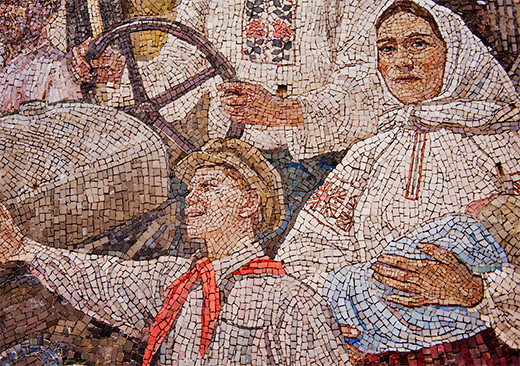 Mosaics at Kievskaya metro station