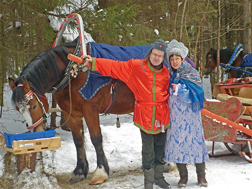 Shashlik and Horse-sled rides at Sergiev Posad