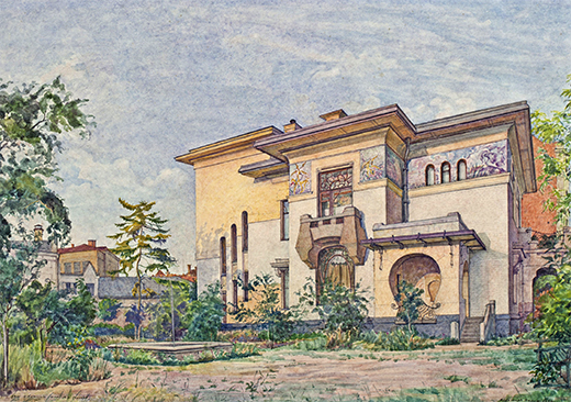 The view of Ryabushinsky mansion 1920s.