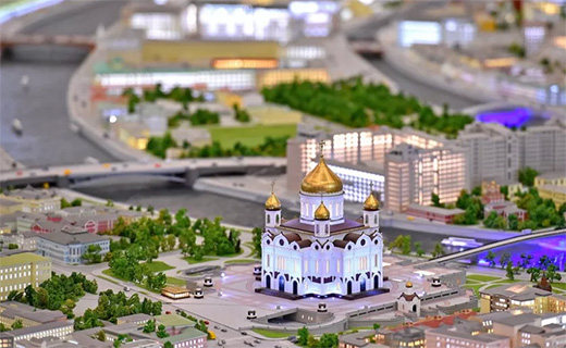 Miniature Moscow in VDNKh
