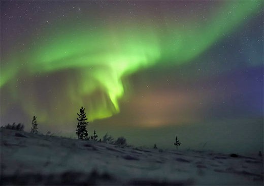 Nortern Lights on Lovozero Lake