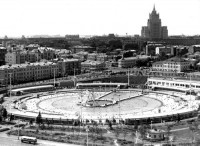 Moscva swimming pool. Moscow, 1960-s