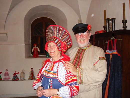 Derek and Jill  (from the UK) in Rusian costumes