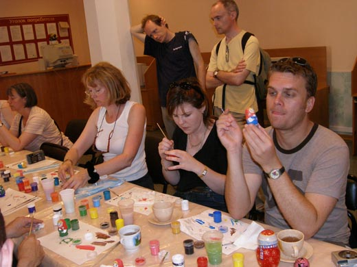 Matryoshka painting class (My group from the UK)