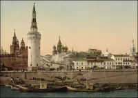 The view on the Kremlin, Moscow, 1890s