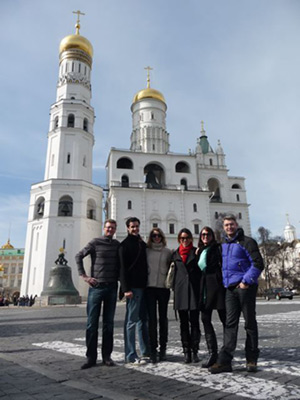 A group from New Zealand in the Kremlin