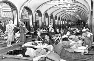 Metro used as shelter during the war