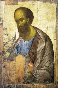 Andrey Rublev. Apostle Paul