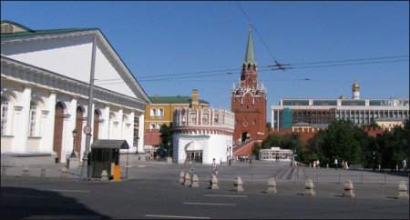 Manege, Kutafia and Trinity towers, Moscow, 2010