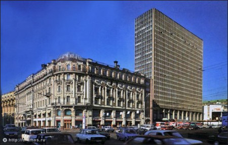 The National and Inturist hotels, Moscow, 1980s