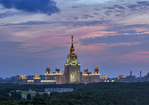 Moscow by night driving tour